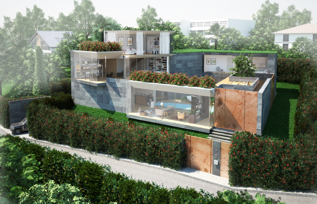 MONTAGNOLA – Land plot with approved project for beautiful modern villa