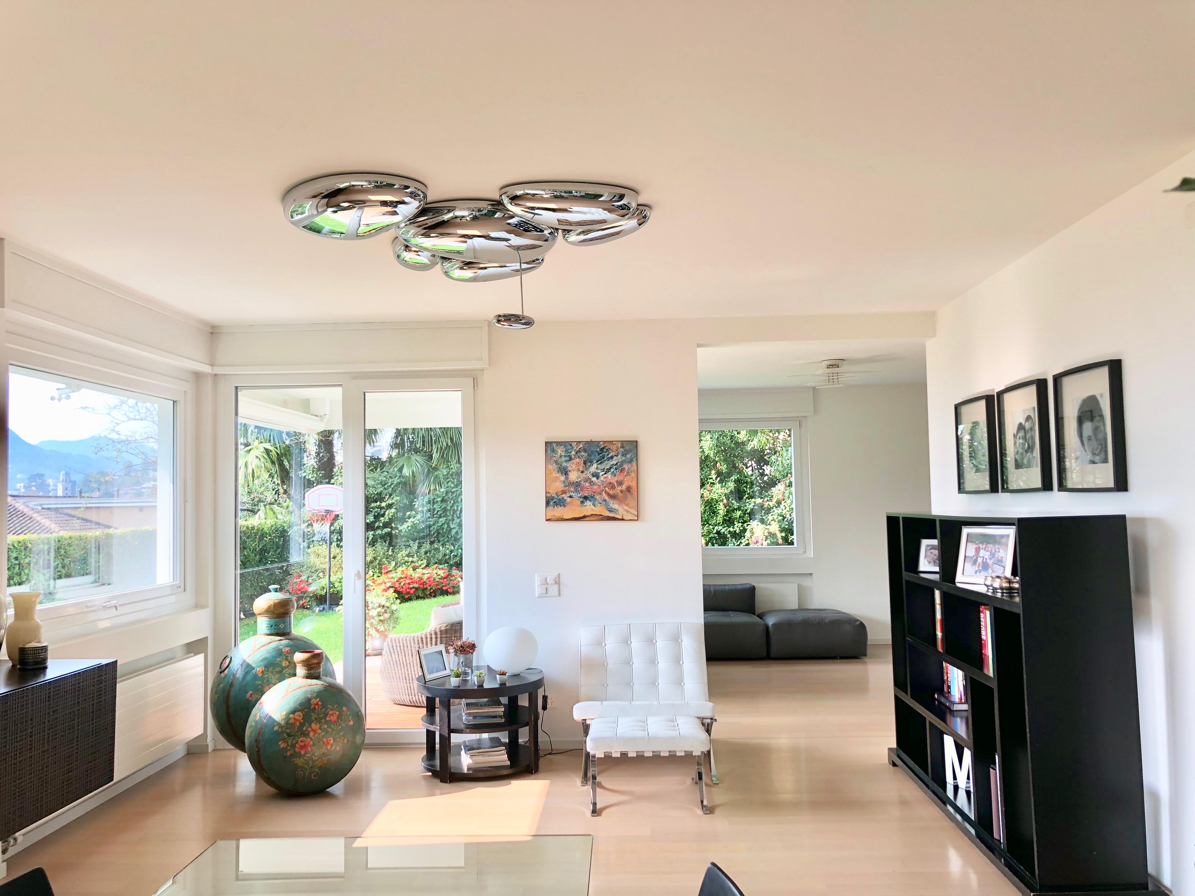 LUGANO – Bellissimo appartamento duplex, a pochi passi dal centro, vista lago e bel giardino
